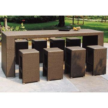 polyrattan bar m bel okzident. Black Bedroom Furniture Sets. Home Design Ideas